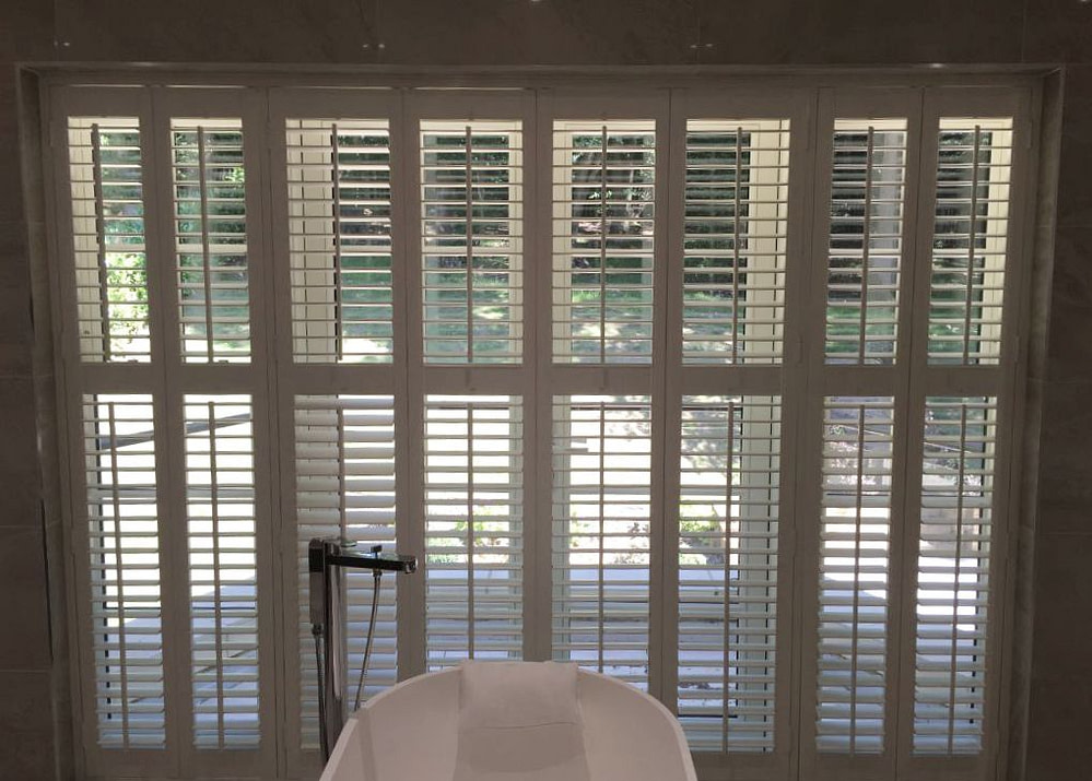 Bathroom shutters (tracked) customer photo