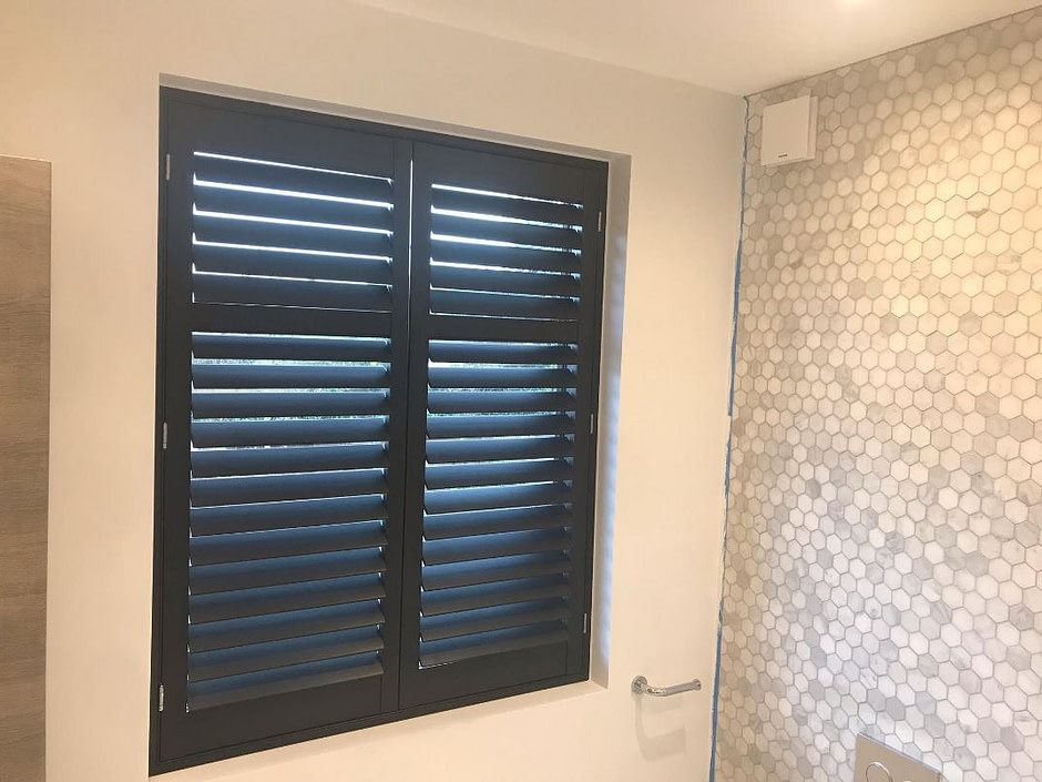 Black, Full Height Shutters - London